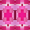 Pink On Pink Panorama 4 by Andee Design
