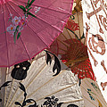 Pink Parasol And Skulls by Robin Maria Pedrero