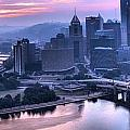 Pink Pittsburgh Morning by Adam Jewell