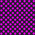 Pink Polka Dots On Black Fabric Background by Keith Webber Jr