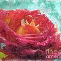Pink Rose - Digital Paint II by Debbie Portwood