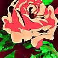 Pink Rose Impression by Saundra Myles