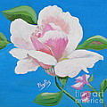 Pink Rose In Paint by Phyllis Kaltenbach
