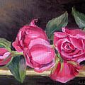 Pink Roses by Karin  Leonard