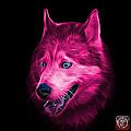 Pink Siberian Husky Dog Art - 6062 - Bb by James Ahn