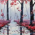 Pink Trees River Landscape by Graham Gercken