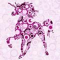 Pink Unicorn - Animal Art by Anastasiya Malakhova