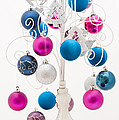 Pink White And Blue Christmas by Anne Gilbert