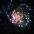 Pinwheel Galaxy Rainbow by Adam Romanowicz