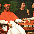 Piombo's Cardinal Bandinello Sauli And His Secretary And Two Geographers by Cora Wandel