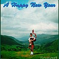 Piper Greeting The New Year by Joan-Violet Stretch