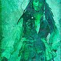 Pirate Johnny Depp - Shades Of Caribbean Green by Absinthe Art By Michelle LeAnn Scott