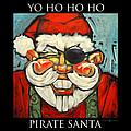 Pirate Santa Poster by Tim Nyberg