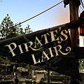 Pirates Lair Signage Frontierland Disneyland by Thomas Woolworth