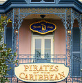 Pirates Signage New Orleans Disneyland by Thomas Woolworth