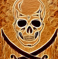 Pirates Skull Digtal Painting by Costinel Floricel
