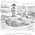 Pirates Stand Around A Dug Up Treasure Chest by Paul Noth