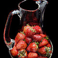 Pitcher Of Strawberries by Andee Design