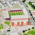 Pittodrie Stadia Art by Brian Casey