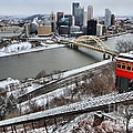 Pittsburgh Duquesne Incline Winter by Adam Jewell