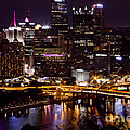 Pittsburgh At Night by  Rich  Wise