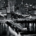Pittsburgh Black And White  by Frozen in Time Fine Art Photography