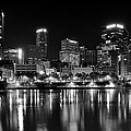 Pittsburgh Black And White Panorama by Frozen in Time Fine Art Photography
