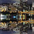 Pittsburgh Dusk Reflection 2 by Cityscape Photography