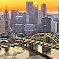 Pittsburgh Incline Sunrise Panorama by Adam Jewell