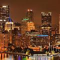 Pittsburgh Lights Under Cloudy Skies by Adam Jewell