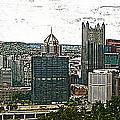 Pittsburgh Panorama Artistic Brush by G L Sarti