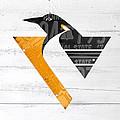 Pittsburgh Penguins Hockey Team Retro Logo Vintage Recycled Pennsylvania License Plate Art by Design Turnpike