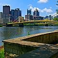 Pittsburgh Pennsylvania Skyline And Bridges As Seen From The North Shore by Amy Cicconi