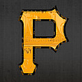 Pittsburgh Pirates Baseball Vintage Logo License Plate Art by Design Turnpike