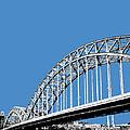 Pittsburgh Skyline 16th St. Bridge - Slate by DB Artist