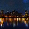 Pittsburgh Skyline 2 by  Fli Art