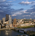 Pittsburgh Skyline At Dusk by Jeff Goulden