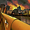Pittsburgh Skyline by Fli Art