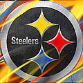 Pittsburgh Steelers Football by Tony Rubino