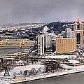 Pittsburgh's First Snow Of 2015 by Adam Jewell