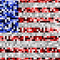Pixel Flag by Ron Hedges