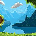 Pixel Landscape by Thomas Olsen