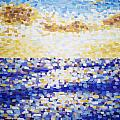 Pixelated Sunset by Bridget Brummel