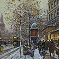 Place De La Republique Paris by Eugene Galien-Laloue
