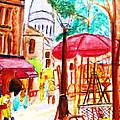 Place Du Tertre Of Paris by Stanley Morganstein