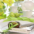 Place Setting With Place Card Set For Easter by Sandra Cunningham