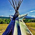 Plains Tribes Teepee by Tommy Anderson