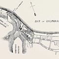 Plan Of Part Of The City Of Valparaiso by English School