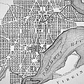 Plan Of The City Of Washington As Originally Laid Out In 1793 by American School