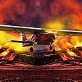 Plane And Fire by Srdjan Petrovic